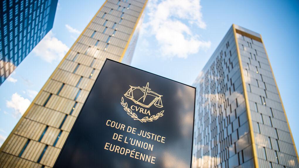Entrada y fachada del Tribunal de Justicia Europeo